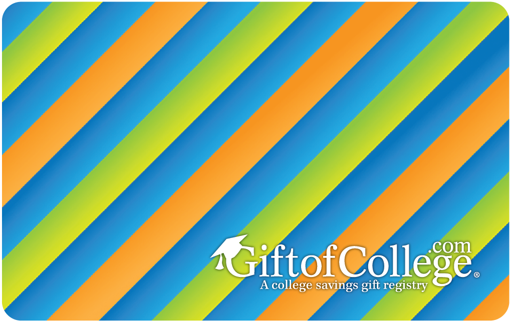 Gift of College Striped Gift Card