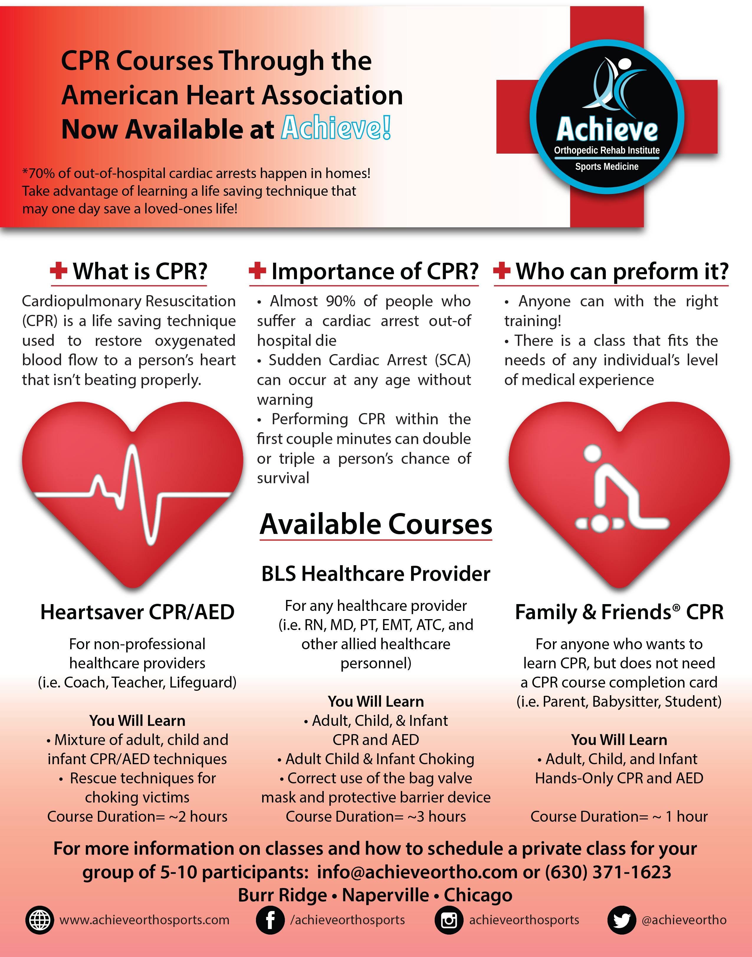Cpr the most important life saving skill you can learn for more info on american heart association cpr classes taught at achieve please view the pamphlet below or call 630 371 1623 do not wait until its too 1betcityfo Images