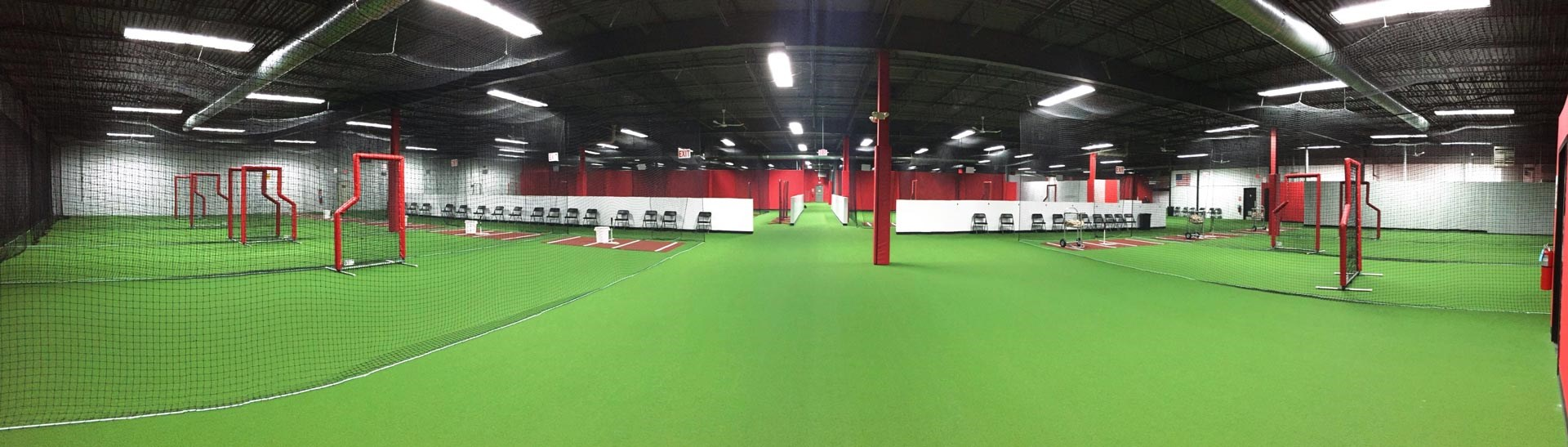 In the community diamond edge academy for Design indoor baseball facility