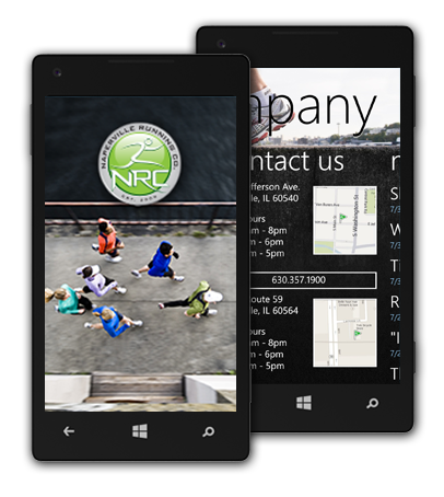 Naperville Running Company Windows Phone Application