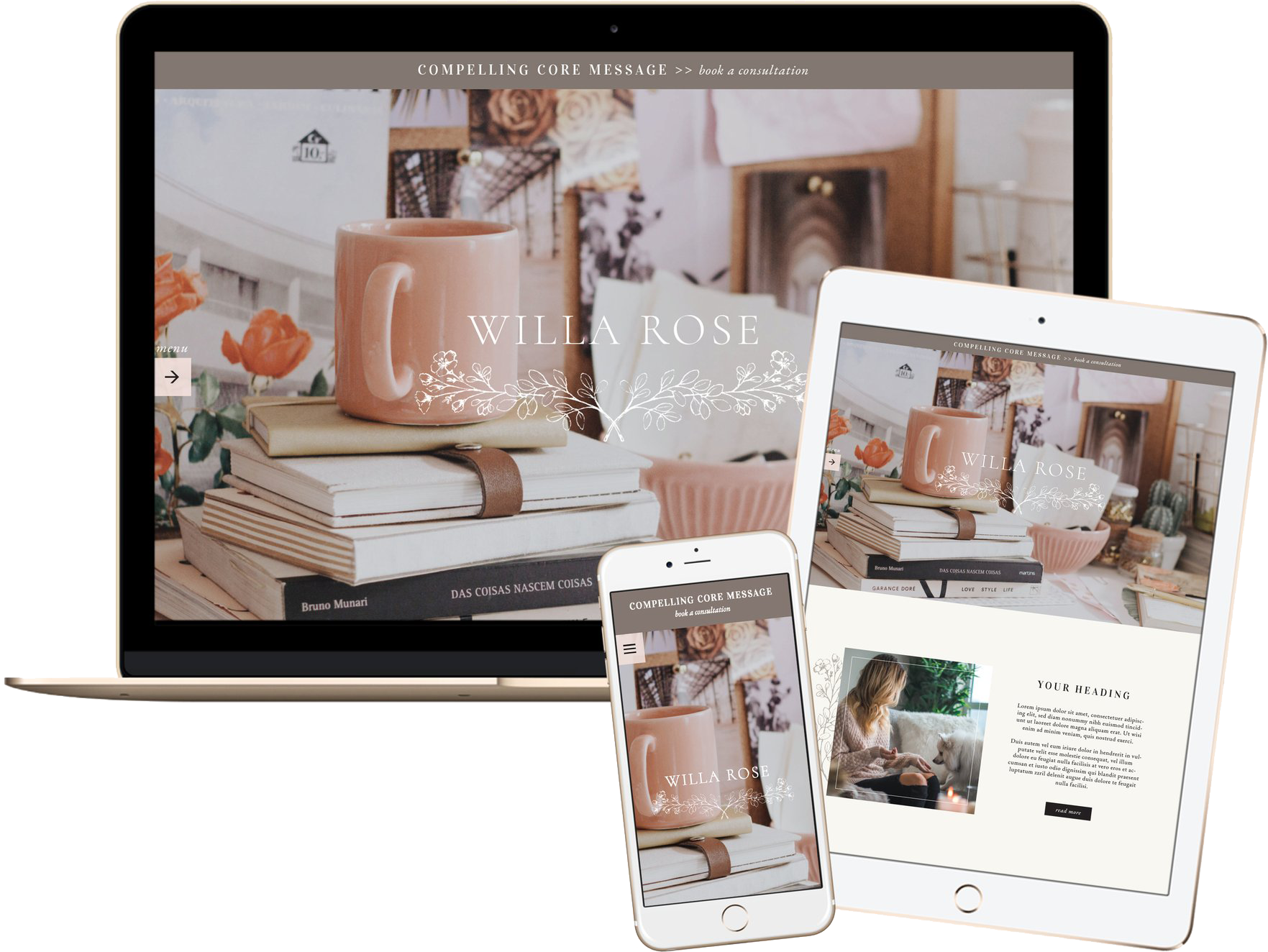 Click to preview the Willa Rose Template