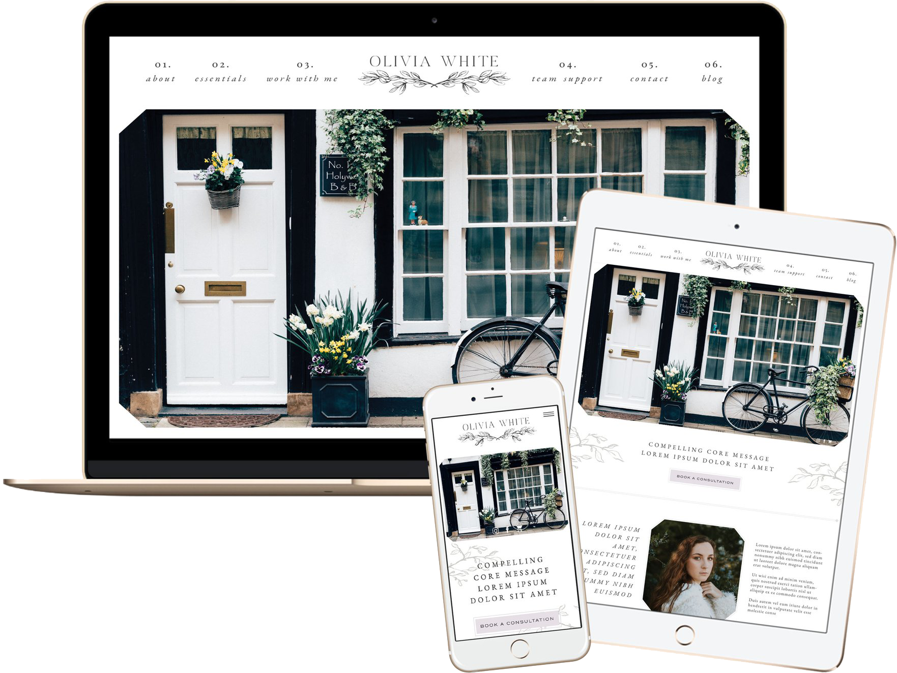 Click to preview the Olivia White Template