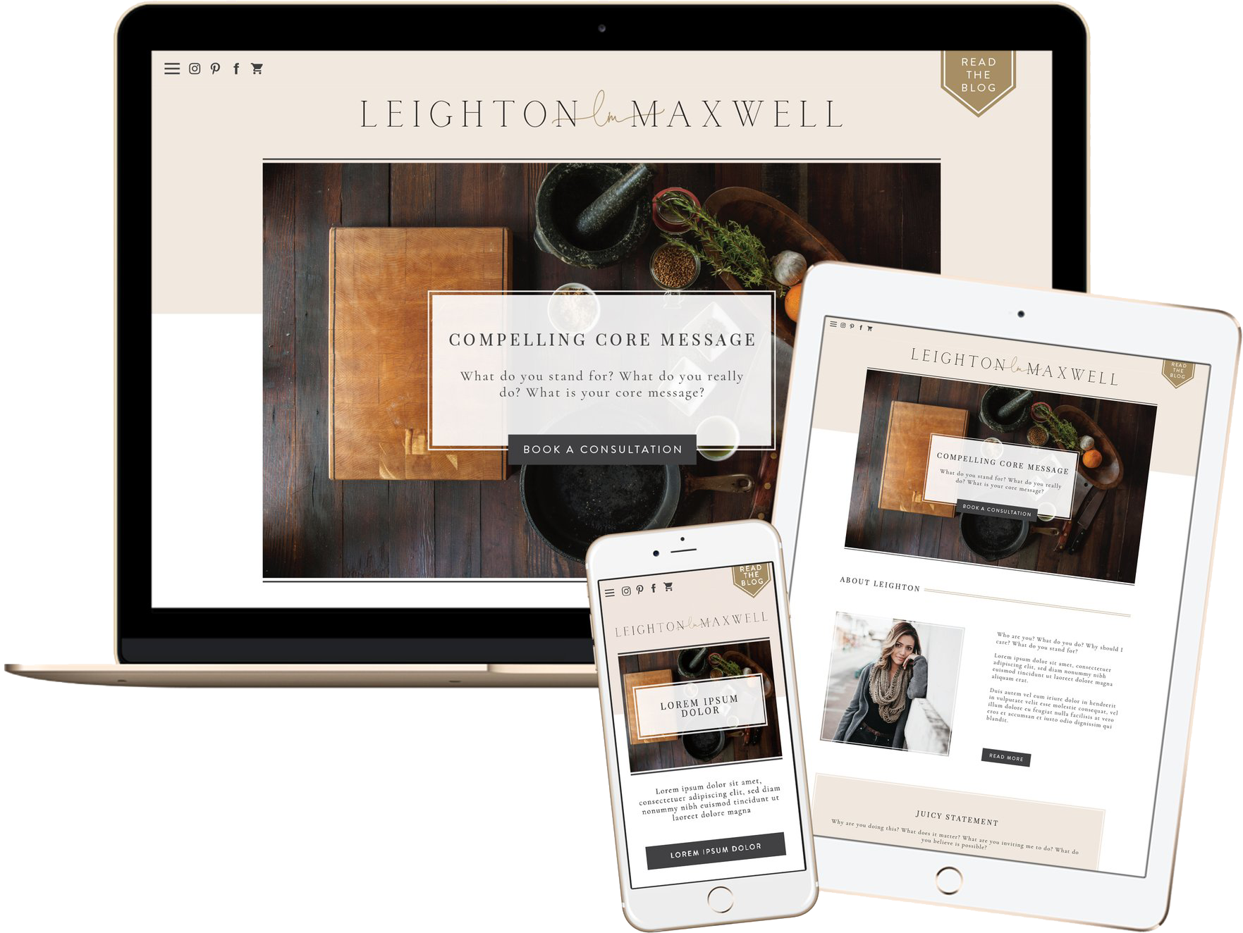 Click to preview the Leighton Maxwell Template