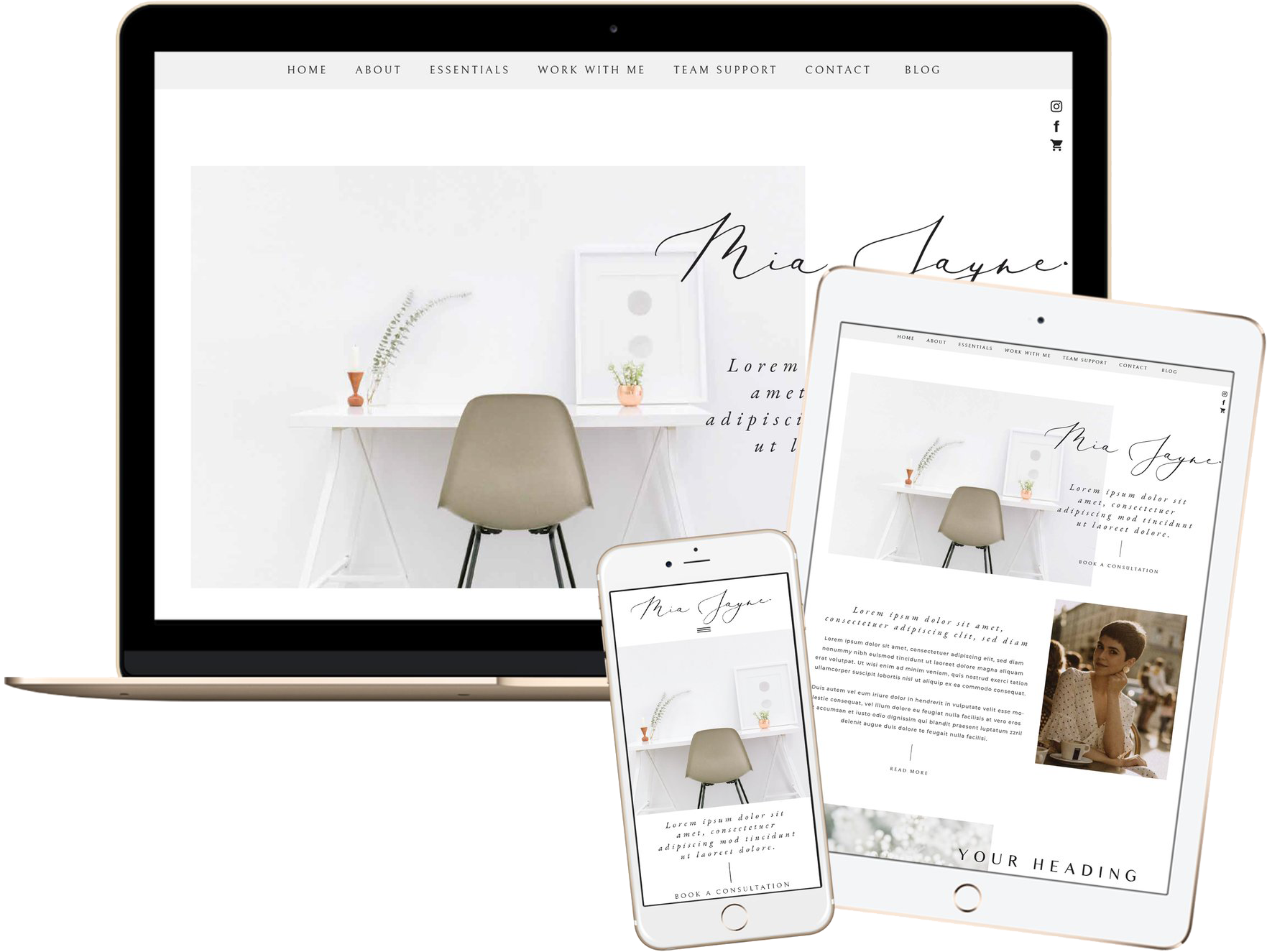Click to preview the Mia Jayne Template