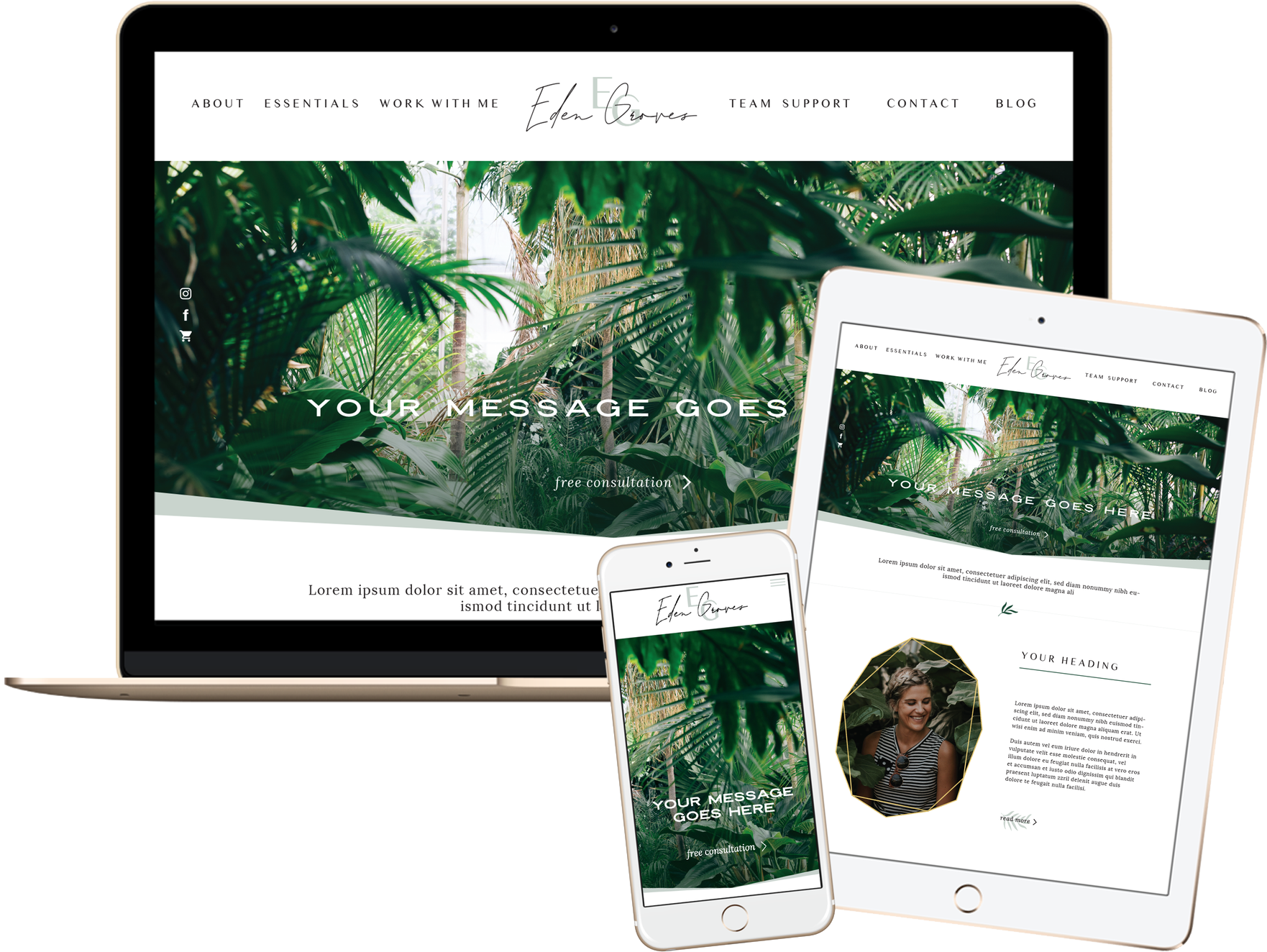 Click to preview the Eden Groves Template