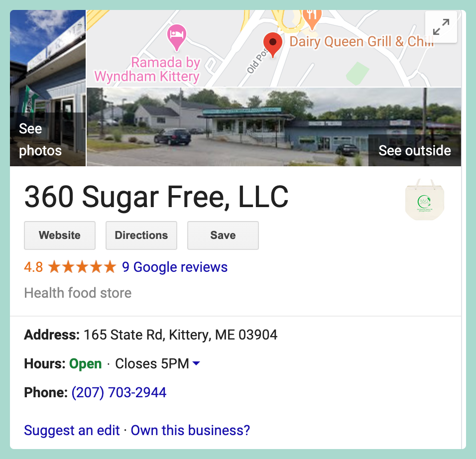 Owning and updating your Google My Business listing allows your business card to appear when someone searches your business directly or searches for businesses like yours on Google. It's incredibly simple to claim your business listing and update it, making it easier for people to find information about your business.