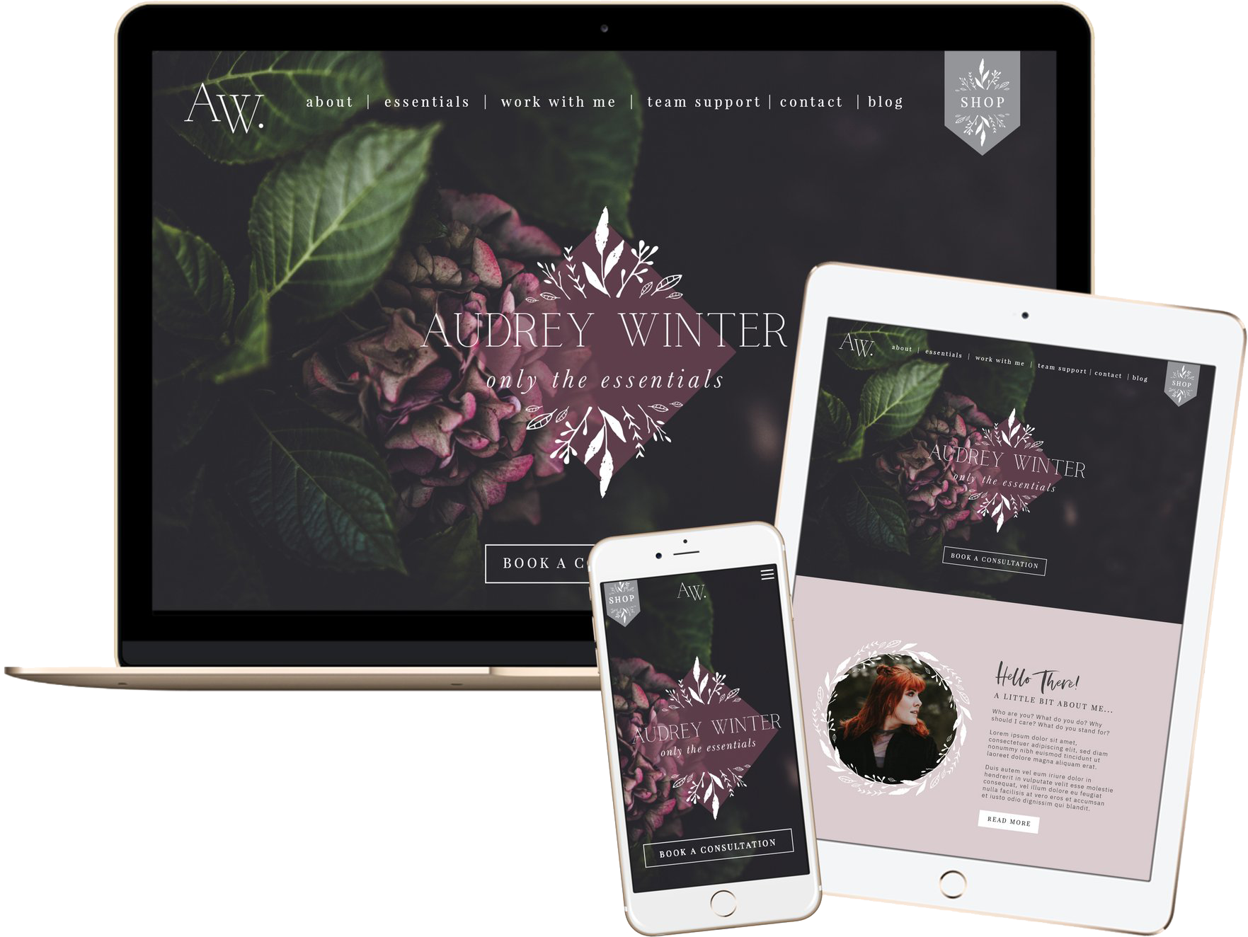 Click to preview the Audrey Winter template.