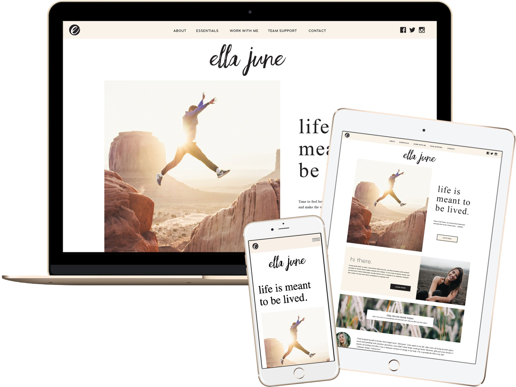 Click to preview the Ella June Template