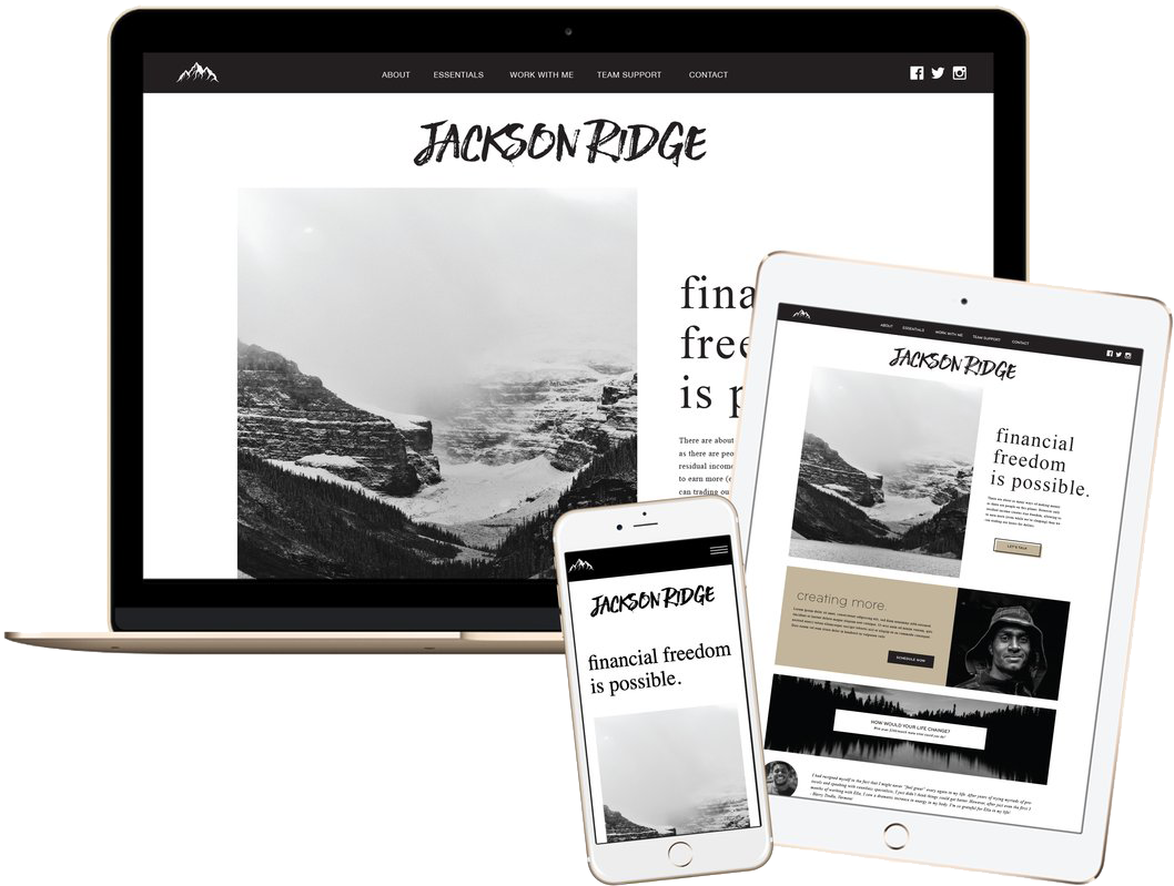 Click to preview the Jackson Ridge Template