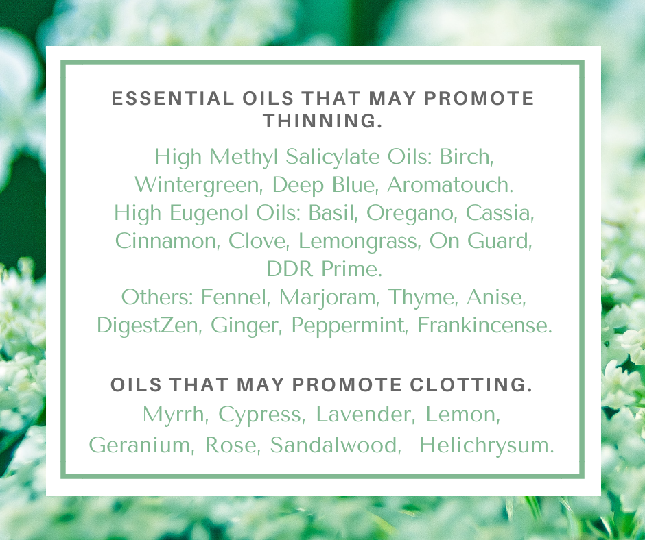 Essential Oils to Avoid with Blood Thinners