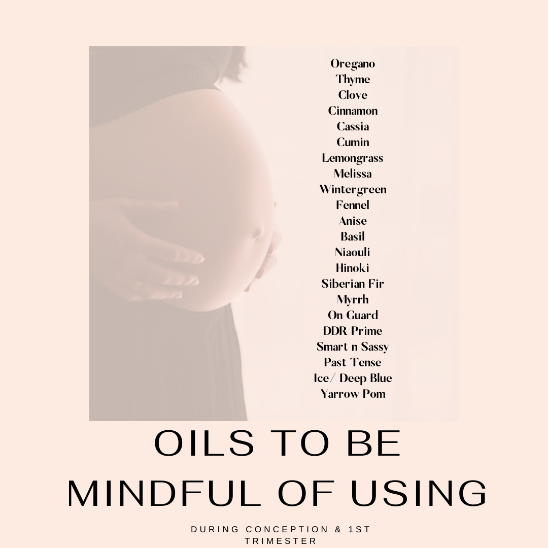 essential oil use for preconception care and pregnancy