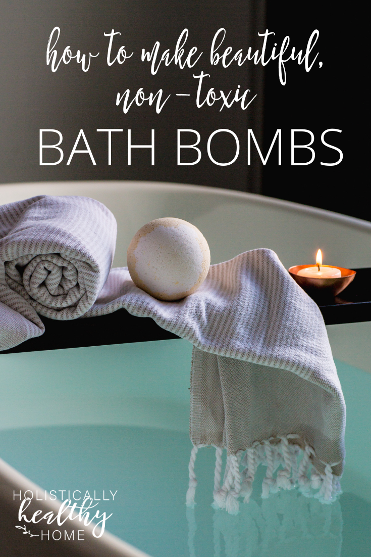 How to make gorgeous, non-toxic bath bombs (with recipe)! They are simple to whip up and a fun project to do with kids. #bathbombs #diybathbombs #bathbombrecipe