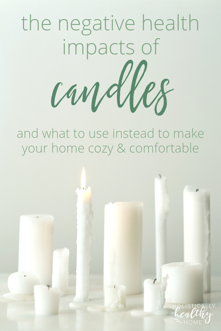 Most candles contain toxic ingredients that damage your home's air quality and the health of all who live inside. If you love candles, discover healthier options to choose instead. #toxiccandles #dangersofcandles #nontoxiccandles #beeswaxcandles #essentialoils