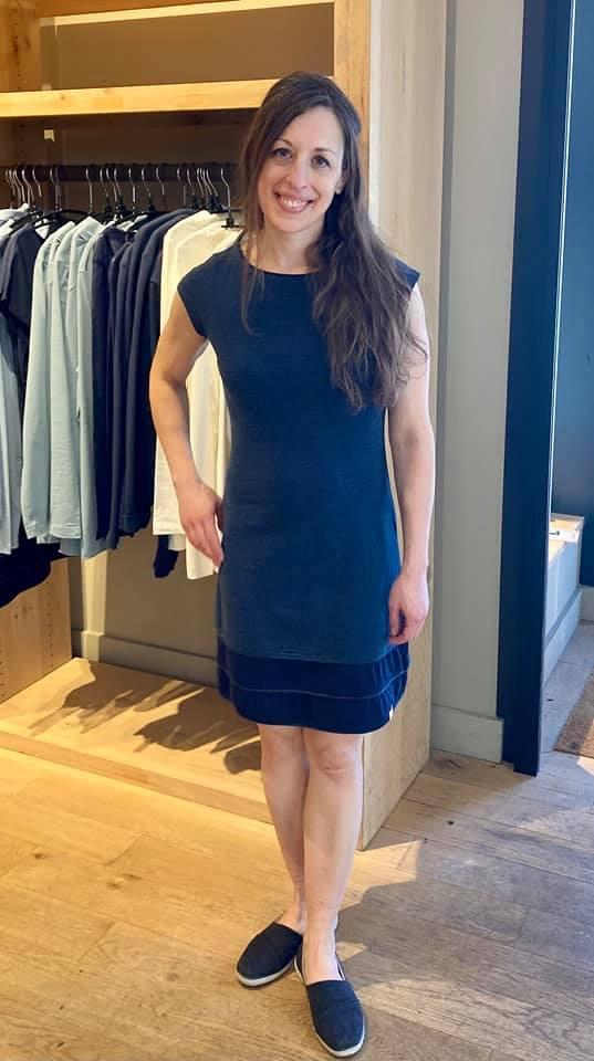Melange dress from Jolie Kai #sustainablefashion #ethicalfashion #GOTScertified