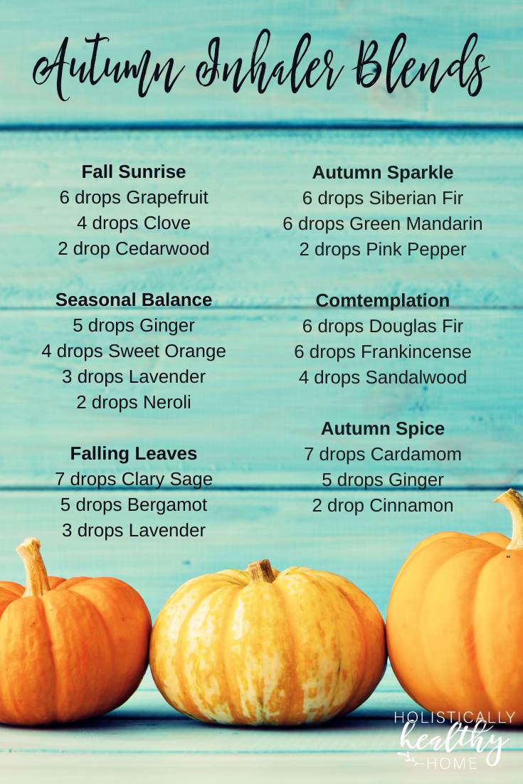 Need a pick-me-up? Or help getting things done? Or something to uplift your spirits? These autumn aromatherapy inhaler blends will put a little bit of fall warmth, happiness, and motivation in your pocket or purse. #fallinhalerblends #autumninhalerblends #essentialoilinhalerrecipes