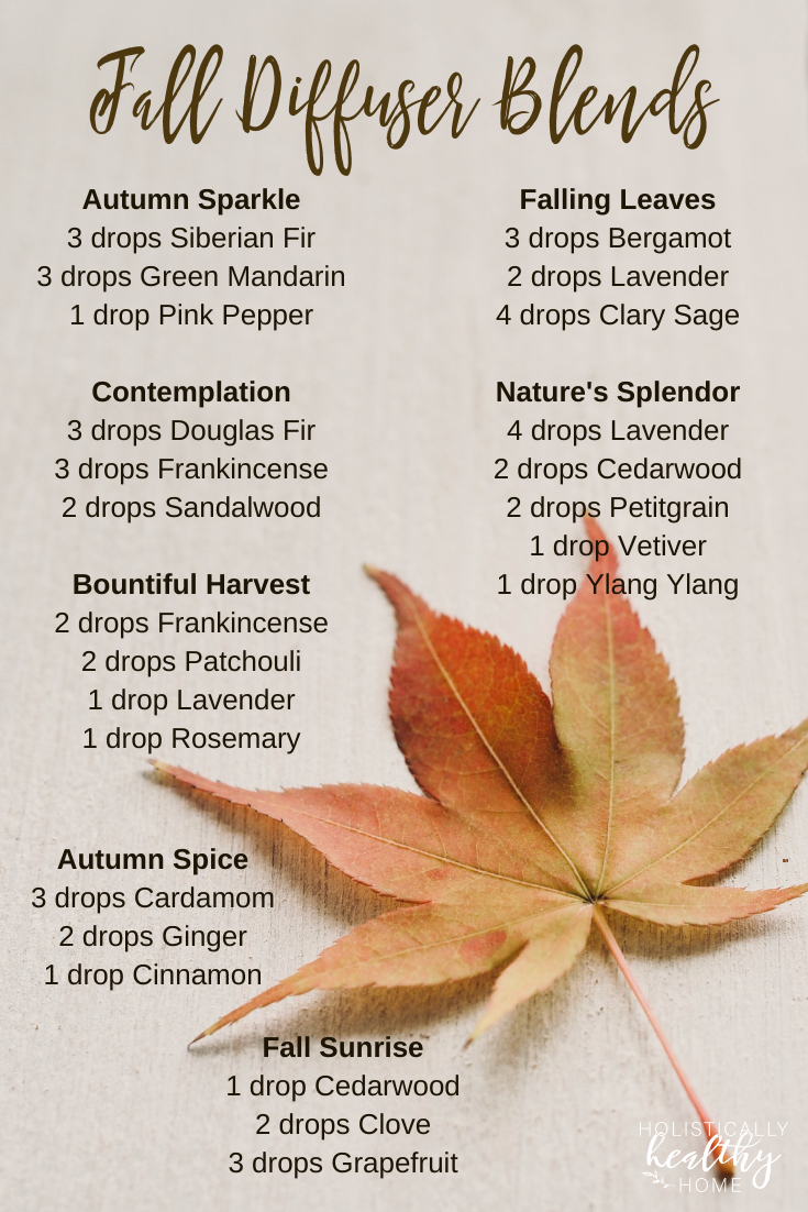 Essential oil diffuser blends that smell like the fall season! These are perfect for aligning yourself with the energy  and feeling of the autumn. #falldiffuserblends #autumndiffuserblends