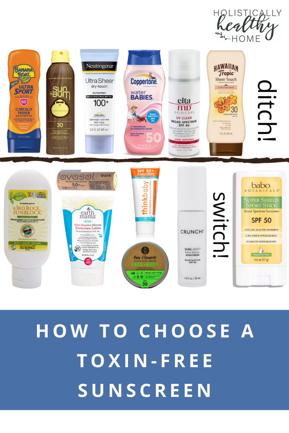 How to Choose a Toxin-Free Mineral Sunscreen #cleansunscreen #safesunscreen #nontoxicsunscreen #naturalsunscreen #mineralsunscreen