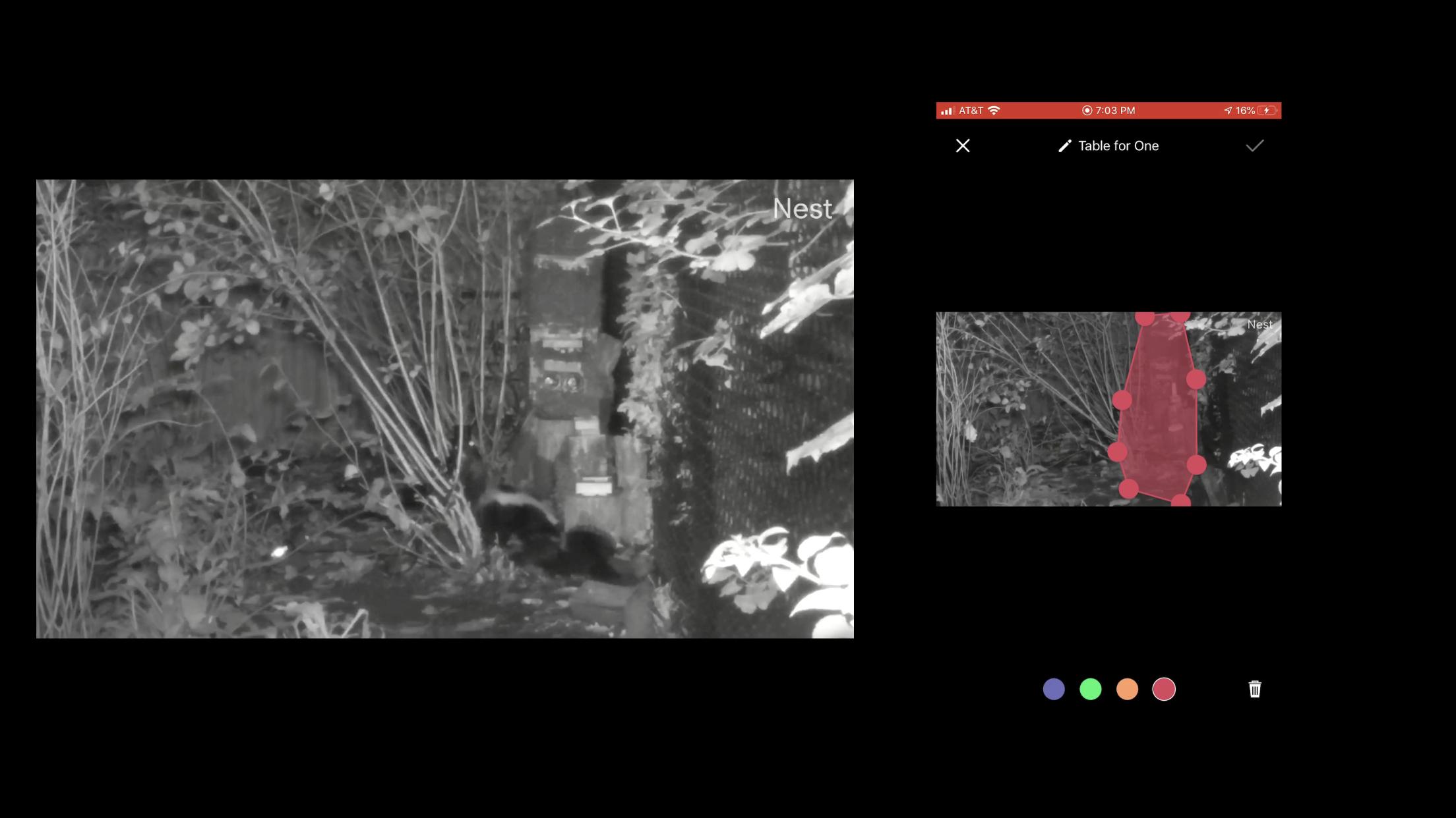 Airgun 101 backyard pest control security camera
