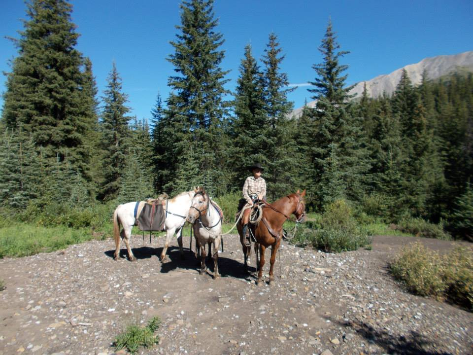 Amanda on a pack trip in the Canadian Rockies