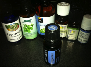 Different Brands of Peppermint Essential Oil