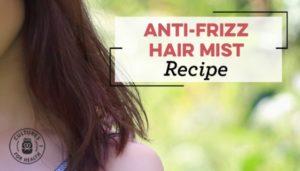 Anti frizz hair mist recipe image