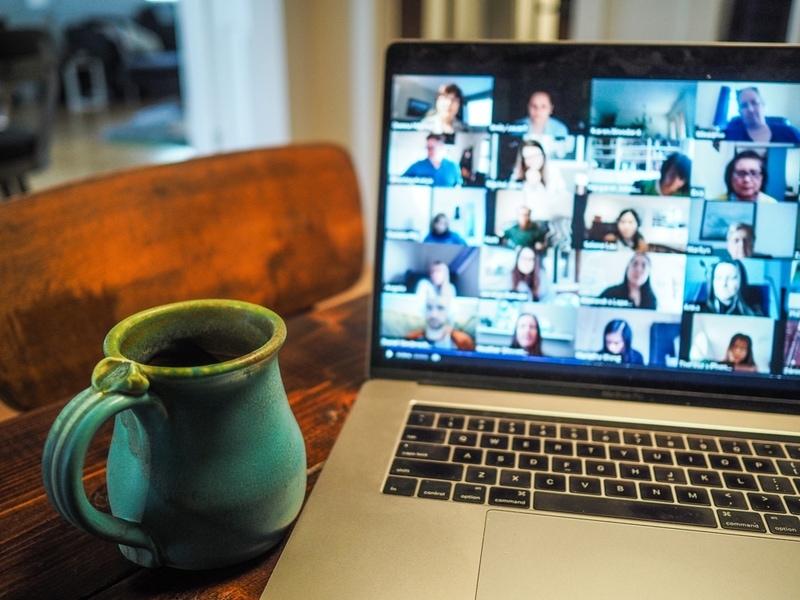An online meeting in progress