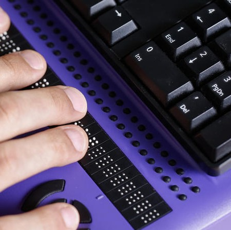 Using a Braille display
